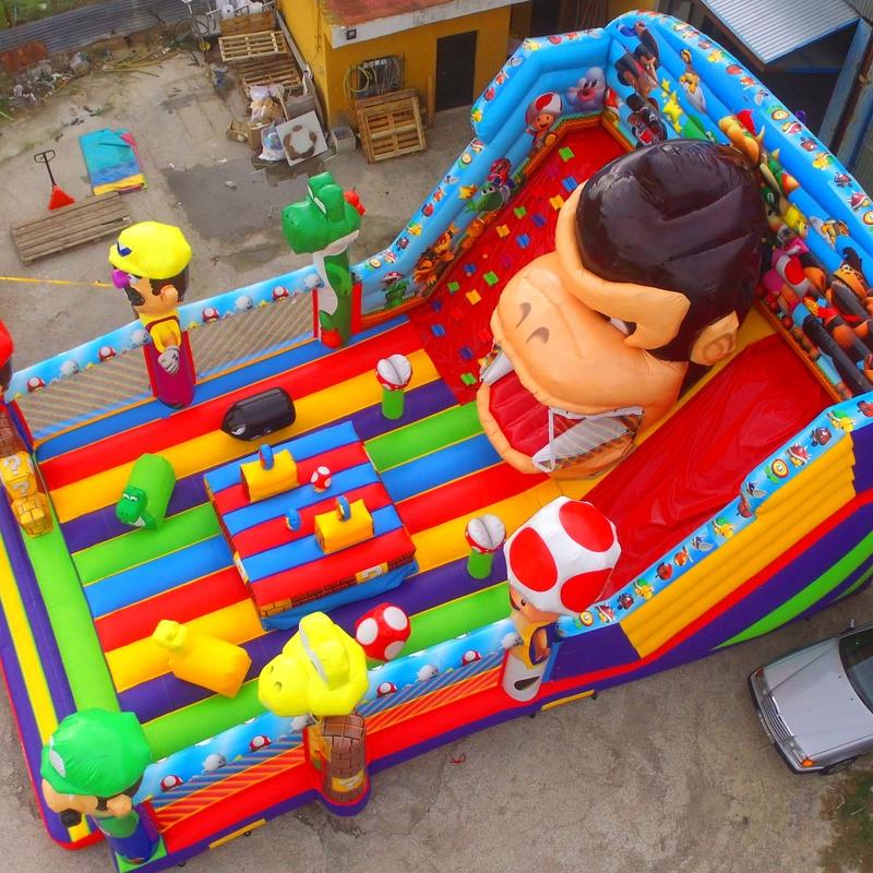 Tobogan Tragón DonkeyKong Balsa : Catálogo de Hinchables Happy Jump