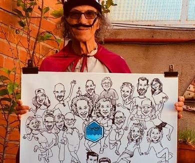 Dibujando un numeroso grupo en el Freekend Costa Brava