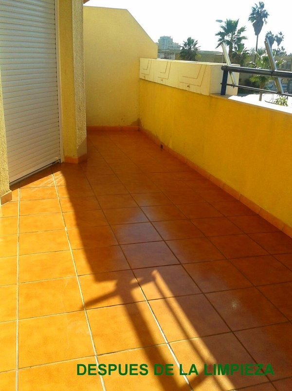 Limpieza de Terraza en vivienda particular.