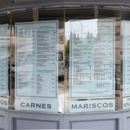 Carta del Restaurante La Tasca