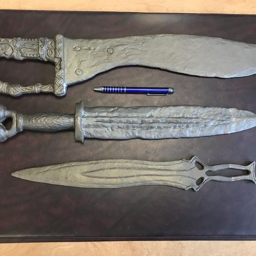 Espadas íberas escala 1:1 fundidas en latón
