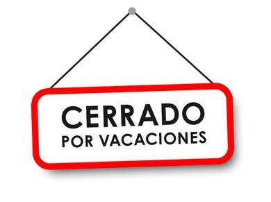 Cerrado por vacaciones hasta el 3 de septiembre