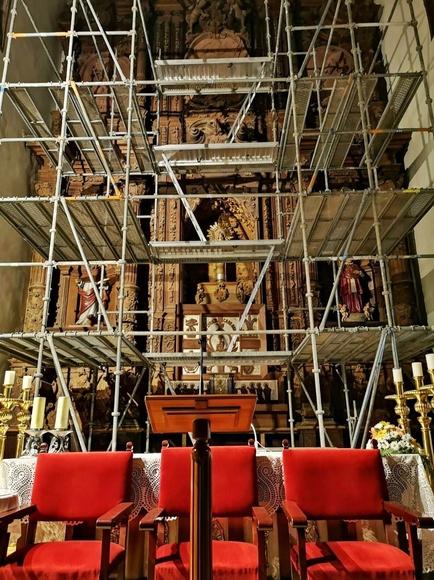 Restauración en la Iglesia del Pilar