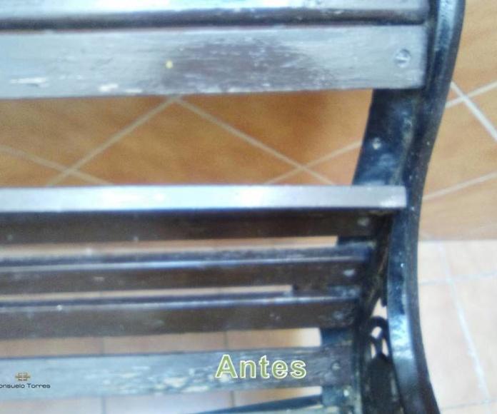 Restauración de mobiliario exterior