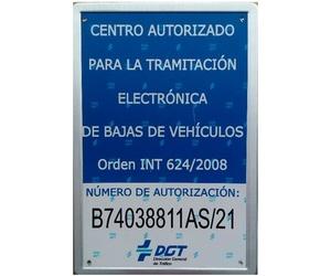 Centro autorizado a la tramitación de bajas de vehículos por la DGT