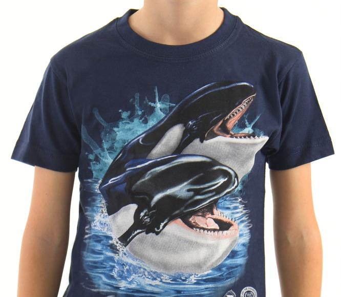Camiseta Niñ@ 2 Orcas  / 2 Whales Child´s T-Shirt: Productos de BELLA TRADICION