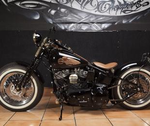 Harley Davidson Shovelhead Bobber Style