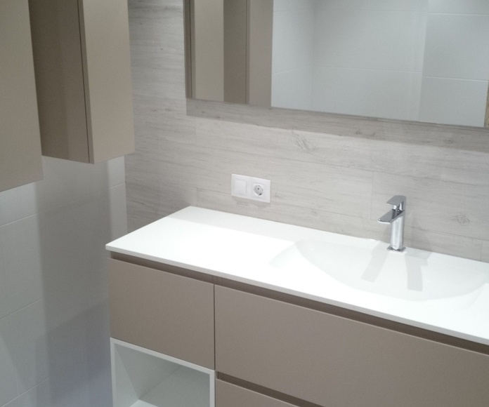 Mueble de baño cubo blanco