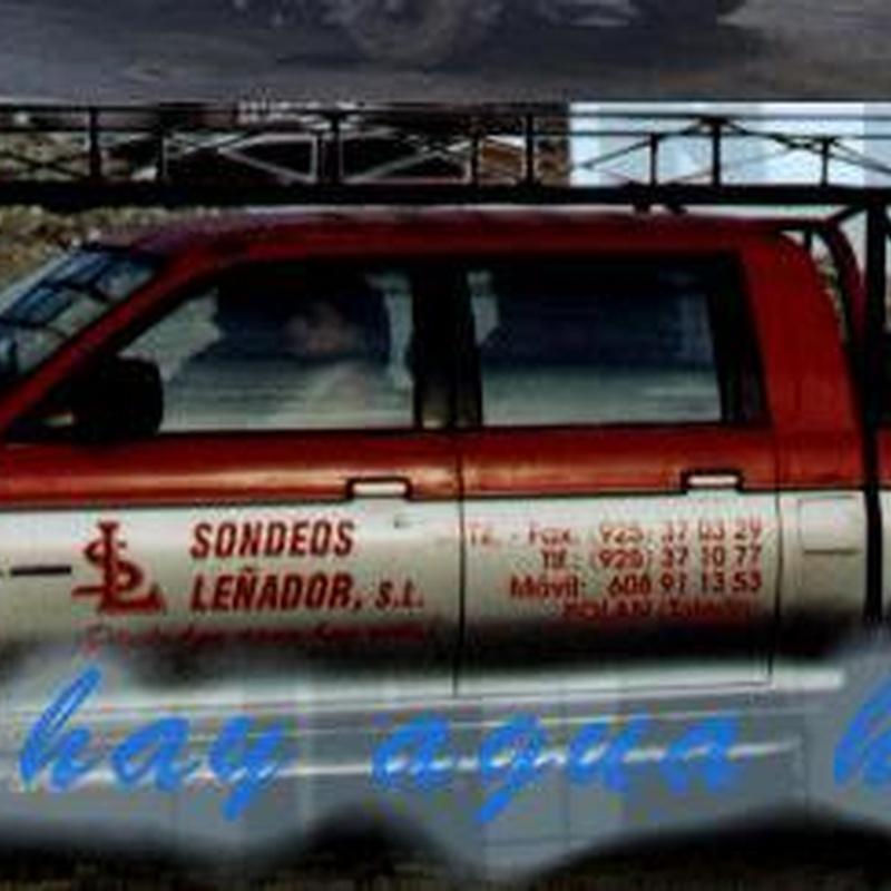 Nuestros Equipos Auxiliares: NUESTROS SERVICIOS de Sondeos Leñador, S.L.