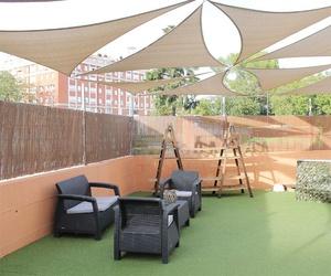 Amplia terraza en el restaurante Casa Extremadura