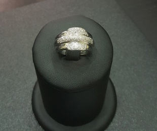 Anillo oro blanco con diamantes