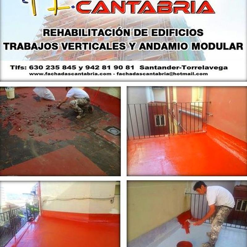 Reparación e impermeabilización de terrazas en Torrelavega-Santander.