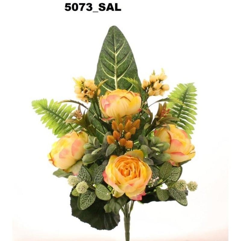 RAMO ENCARADO PEONIA VINTAGE. COLOR:SALNON REF.: 5073 SAL. PRECIO: 5,50 €
