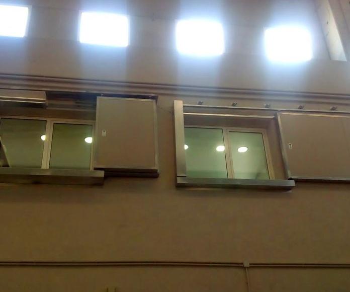 Puerta corrediza tipo ventana cortafuegos contra incendios