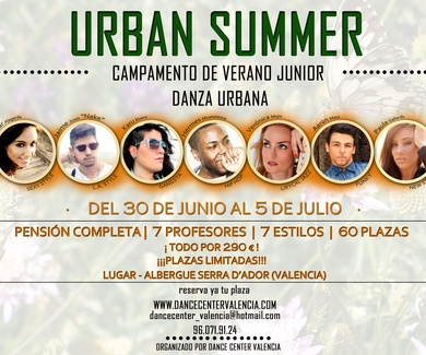 CAMPAMENTO JUNIOR DANZA URBANA 2014 DANCE CENTER VALENCIA