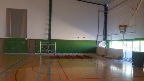 Trabajo realizado en polideportivo Príncipes de España