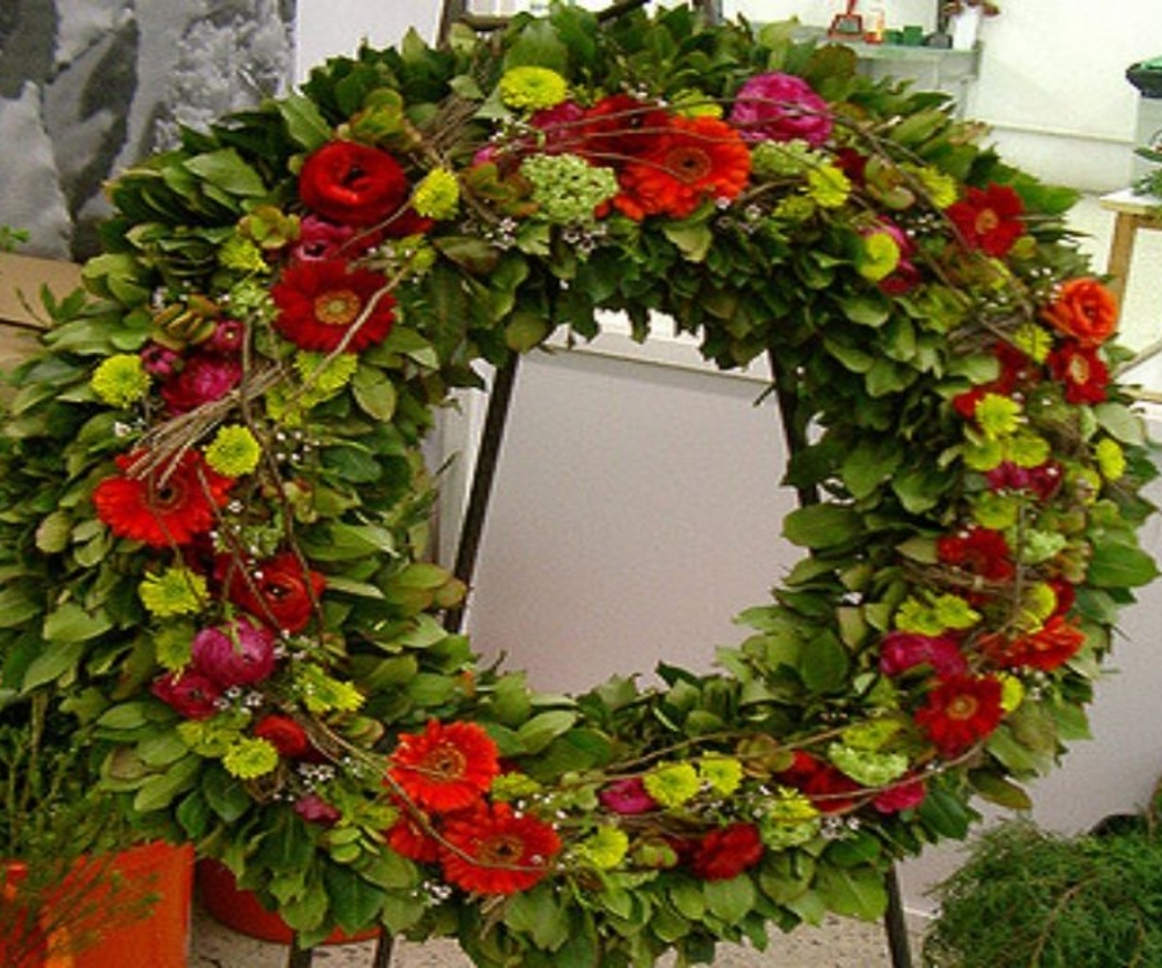 Flores que se utilizan en coronas funerarias