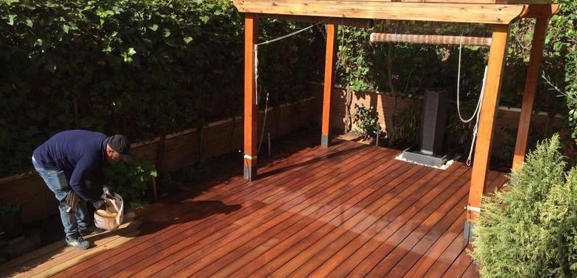 Woodmagik, para acuchillar suelo exterior en Madrid centro