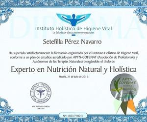 Titulada en Nutrición Natural Holistica.