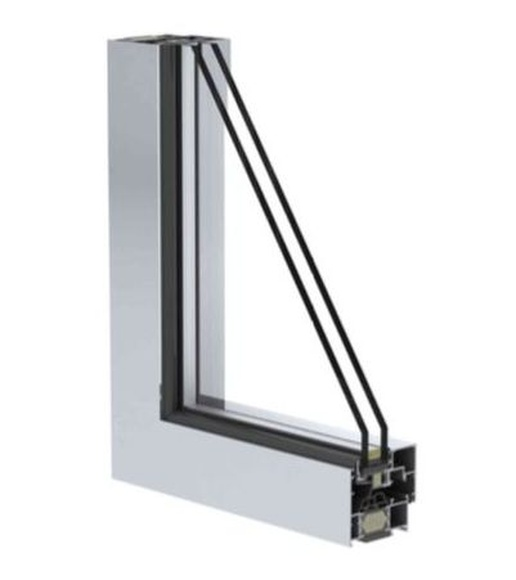 Perfil ventana hoja oculta. Cristalería Formas