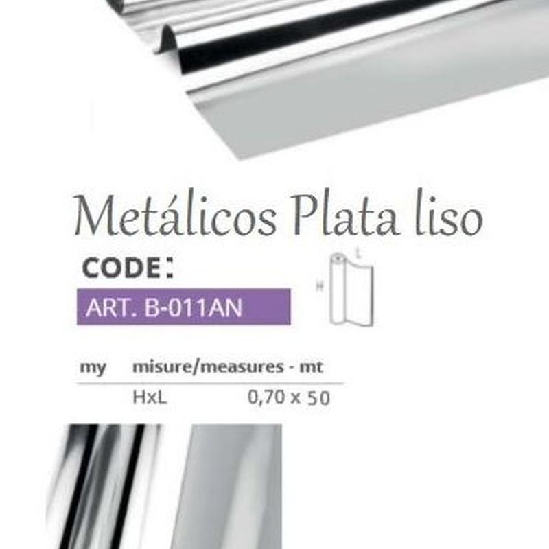 BOBINA PP METALICO LISO PLATA 35my (0,70 x 50MT) REF: B-011AN PRECIO: 8,95€
