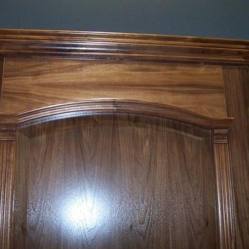 Parte superior de armario de madera