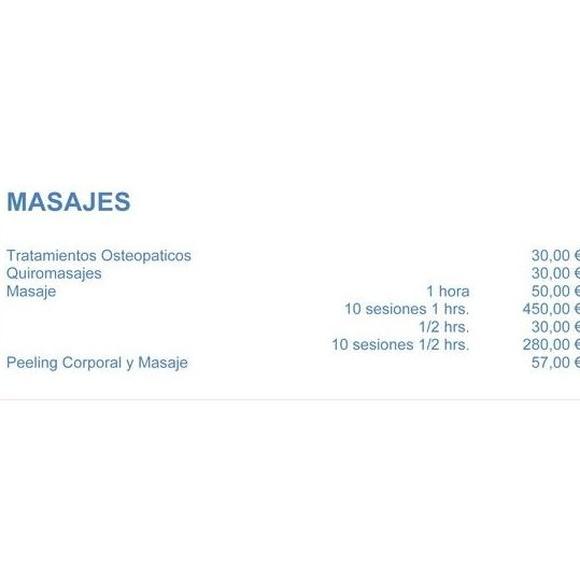 Tarifas masajes: Servicios de Assía Instituto de Belleza