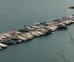 Foto aérea del embarcadero