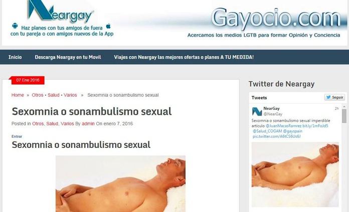 Nuevo Artículo: Sexomnia o sonambulismo sexual