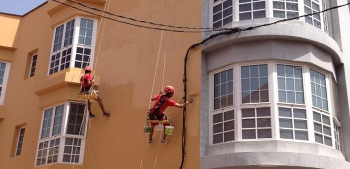 Rehabilitación de edificios y trabajos de altura en Fuerteventura