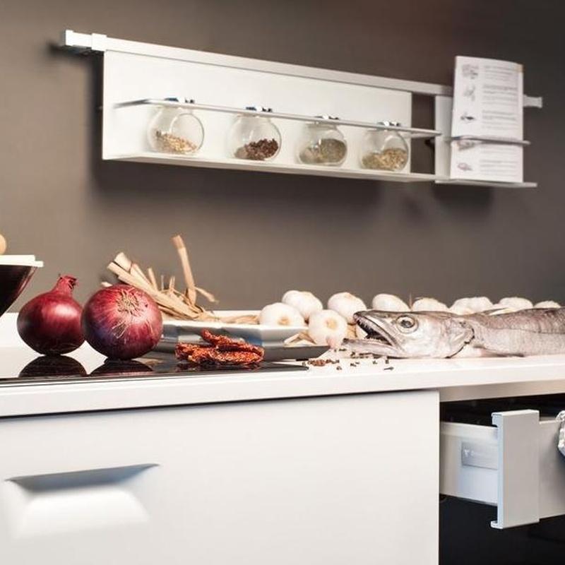 Cocina Delta mod. Kala detalle interior del cajón