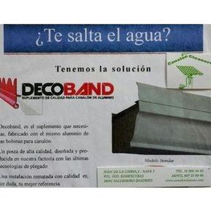 Instalación de Decoban: Productos y servicios de Canalón Cleaners