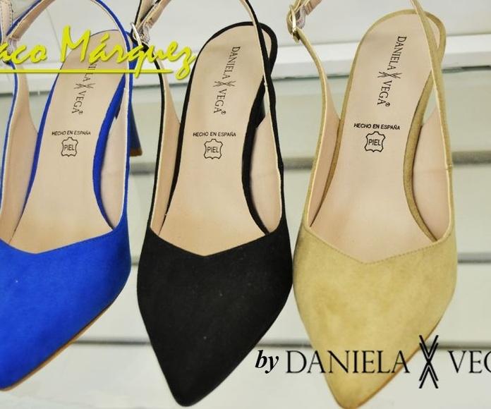 Zapatos de tacón aterciopelados Daniela Vega