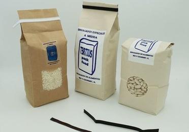 Bolsas preformadas de papel kraft exterior y polipropileno interior