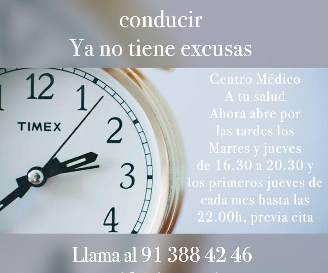 A tu salud Arturo Soria amplía el horario
