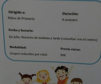TALLERES PARA NIÑOS MES DE JULIO