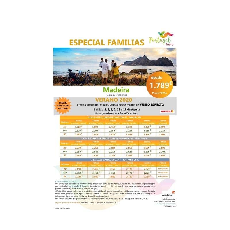 Especial familia. Portugal Tour Verano 2020: Contrata tu viaje de Viajes Iberplaya