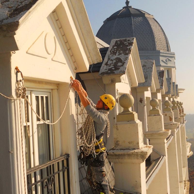 Trabajos verticales en el Hotel Real de Santander