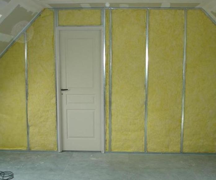 Trabajos de insonorizacion de paredes y colocacion de pladur