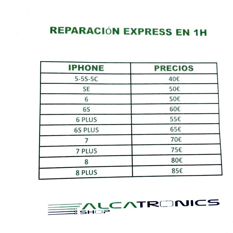 Cambio pantallas Express en 1h: Catálogo de Alcatronics