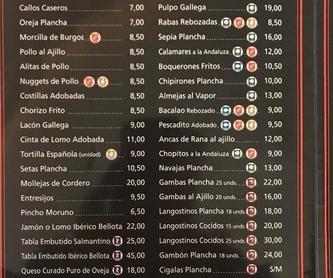 Nuestra carta: Menús de Restaurante Terraza La Parrilla de Valdemoro