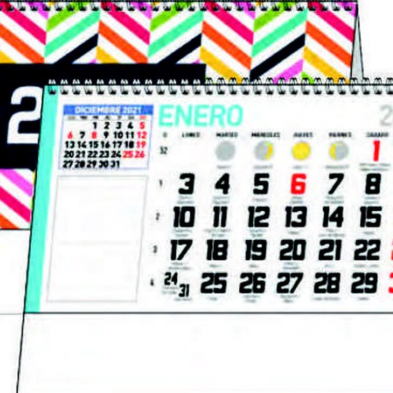 Ref. 43 - Sobremesa mensual notas: Nuestros Productos de Gráficas Kalendex