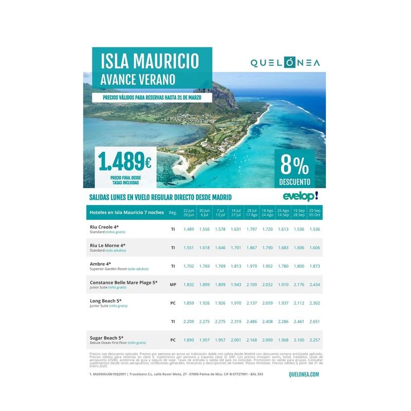 Avance del verano. Isla Mauricio: Contrata tu viaje de Viajes Iberplaya