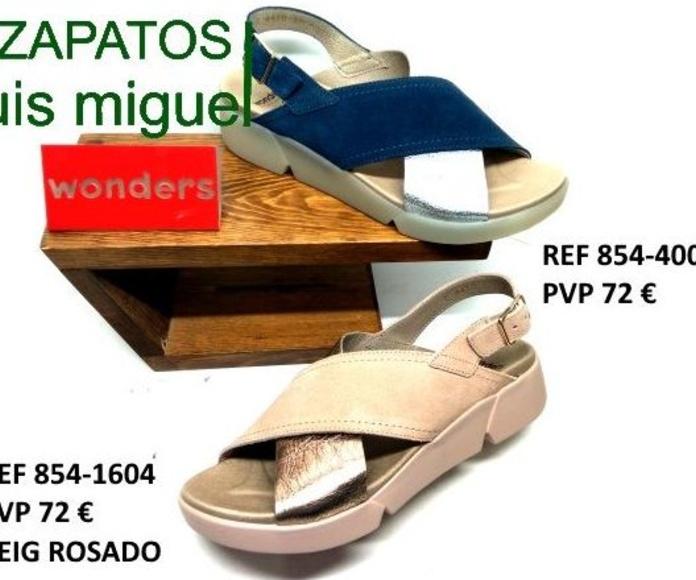 sandalias dos tiras anchas de wonders: Catalogo de productos de Zapatos Luis Miguel