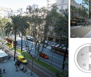 P. M. y D. O. de la reforma de la Av. Diagonal de Barcelona