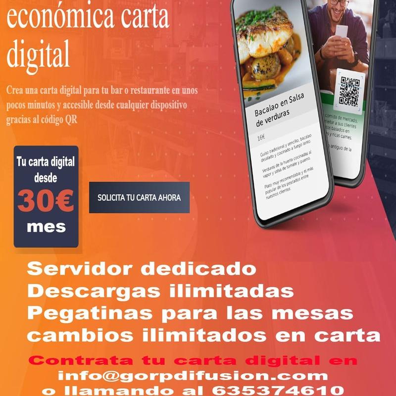 Cartas Digitales.: Nuestros servicios de Gorp Difusión