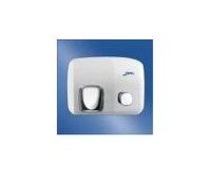 Secamanos de acero vitrificado blanco con pulsador.: Productos de Comercial Andrés
