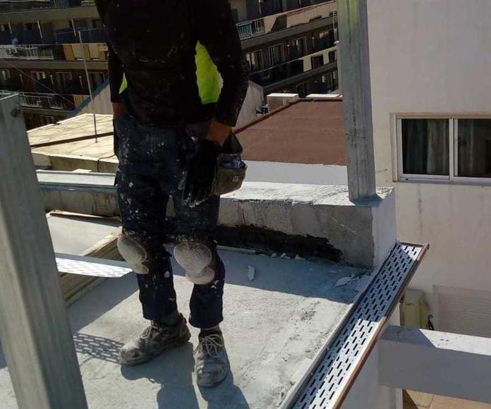 Instalación de rejilla de protección