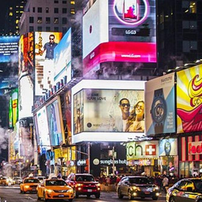 Las luces de neón en la publicidad