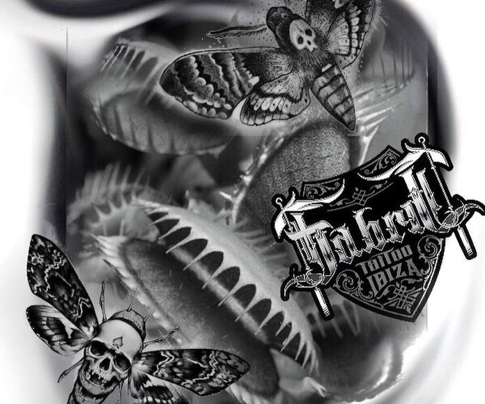 Dibujos: Tatuajes y piercing de Fabric Tattoo Ibiza
